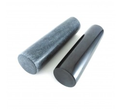 Para cylindrów polerowanych szungit i talkonit 10x3cm