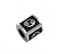 CANCER bead sterling silver spacer beads