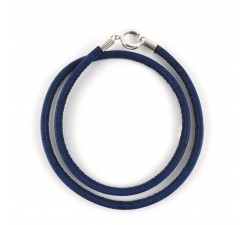 double bracelet base navy cork with sterling silver clasp for natural stones cure beads with healthy benefits