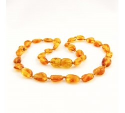 amber teething necklace baby orange
