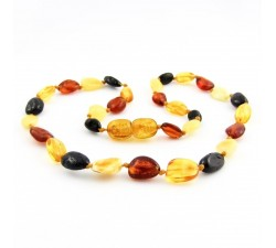 amber teething necklace multicolor baby