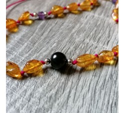 amber necklace for baby teething and protection