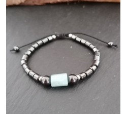bracelet for boys hematite shungite aquamarine sterling silver shamballa