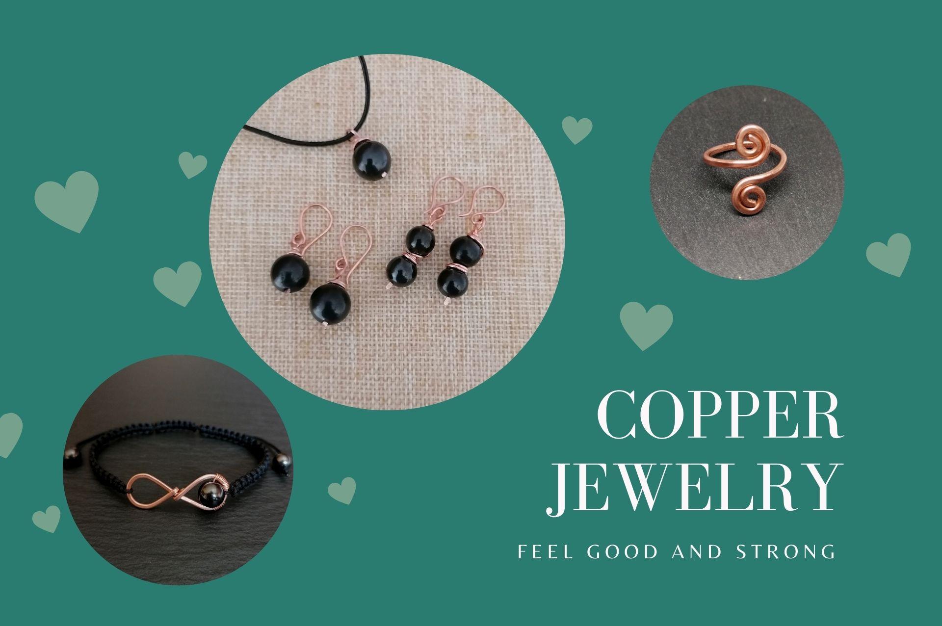 arcanastones copper jewelry with healing gemstones